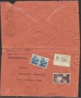 1951 Italia Italy Repubblica STORIA POSTALE Busta Viaggiata 2 Volte: 2 Diverse Racc. RIMINI FORLI' R/RR - 6. 1946-.. Repubblica
