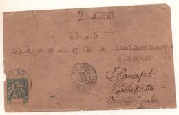 Lettre De Saigon 1904 Indes Avec 25c Bleu Groupes Seul Sur Lettre Cote > 75 € - Indochine (1889-1945)