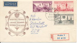 Czechoslovakia Registered FDC 24-11-1957 Historical Buldings With Cachet - FDC