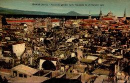 Syrie - DAMAS -  Panorama Général Après L'incendie Du 18 Octobre 1925 - Syrië