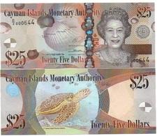 Cayman Islands - 25 Dollars 2010 / 2018 Serie D/2 UNC Lemberg-Zp - Kaimaninseln
