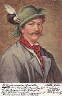 AK Mann In Tracht - Gemälde - Bozen 1903 (36159) - Trachten