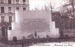 69 - Rhone -  LYON - Monplaisir - Monument Aux Morts - Lyon