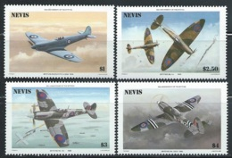 """Nevis     """"Airplanes""""     Set      SC#   460-63    MNH - St.Kitts And Nevis ( 1983-...)"""