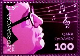 Azerbaijan Stamps 2018. Gara Garayev 100 Anniversary. Composer - Azerbaïjan