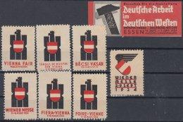 F-EX8330 AUSTRIA CINDERELLA VIENNA FAIR STAMPS LOT 1934 MH- NO GUM. - Autriche