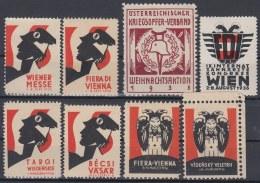 F-EX8332 AUSTRIA CINDERELLA VIENNA FAIR STAMPS LOT 1935-36 MH- NO GUM. - Autriche