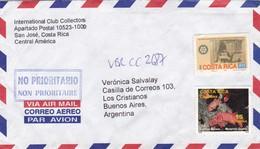 AIRMAIL SOBRE ENVELOPE COSTA RICA INTERNATIONAL CLUB COLECTORSROTARY ESPECIES MARINAS STAMPS AVEC BORD DU PLAQUE - BLEUP - Costa Rica