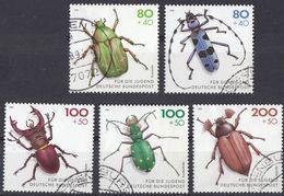 GERMANIA - GERMANY - DEUTSCHLAND - ALLEMAGNE -  1993 - Serie Completa Usata, Yvert 1497/1501, Cinque Valori. - [7] República Federal