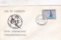UNION INTERNACIONAL ELECOMUNICACIONES FDC SANTO DOMINGO 1978. REPUBLICA DOMINICANA- BLEUP - Dominicaanse Republiek