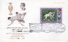 IRAN  -  1969 The 3rd International Freestyle Wrestling Championship  FDC5731 - Iran