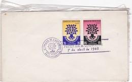 AÑO MUNDIAL DE LOS REFUGIADOS 1960 SOBRE ENVELOPPE COSTA RICA - BLEUP - Costa Rica
