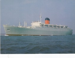 Postcard Carmania 11 Built For Cunard In 1954 As Saxonia Became Leonid Sobinov Reproduction My Ref  B22870 - Steamers