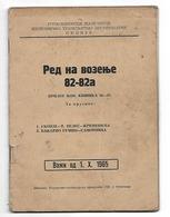 MACEDONIA, JUGOSLAVIA RAILWAY, ITINERARY  82-82a, SKOPJE 1956 - Eisenbahnverkehr