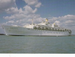 Postcard Oriana Built For P & O In 1960 Became Cruise Liner Reproduction My Ref  B22871 - Steamers