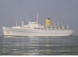 Postcard Empress Of Britain Built For Canadian Pacific Became Queen Anna Maria & Carnivale Reproduction My Ref  B22872 - Steamers