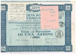 Action Ancienne - Società Romana Per Le Ferrovie Del Nord - Titulo Di 1924 - Railway & Tramway