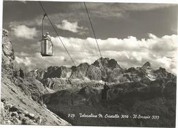 X3856 Telecabine Monte Cristallo - Il Sorapis - Panorama - (Belluno) / Non Viaggiata - Altre Città
