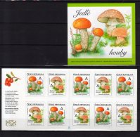2018 Czech Rep.- Mushrooms - Booklet Of 10 S.adhesive - MNH** MI MH - 0-201 / MiNr. 983 - 984 - Tschechische Republik