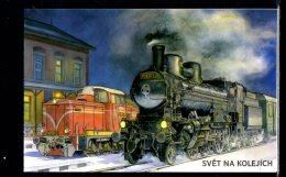 2017 Czech Rep. - Hystorical Locomotivs / Dampfzuge - MH S.adhesive - MNH** MI MH 0-193 / MiNr. 929 - 930 (rg) - Tschechische Republik