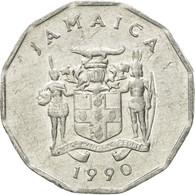 Monnaie, Jamaica, Elizabeth II, Cent, 1990, British Royal Mint, TB+, Aluminium - Jamaique