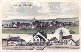 Deutschland -  Gruss Aus ROHRENFELS - Brauerei Schneider - Schulhaus - Pfarrhaus Und Kirchen - Litho - Neuburg
