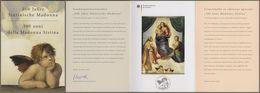"""Bund + Vatikan: Ministerkarte Mi-Nr. 2919, Block 79: """" Sixtinische Madonna """" Joint Issue Gemeinschaftsausgabe R - BRD"""