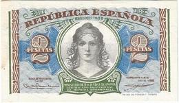 España - Spain 2 Pesetas 1938 Pick 95 UNC Ref 1421-1 - [ 2] 1931-1936 : República