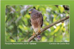 Costa Rica MNH New Postcard 2018 National Parks Carara Birds - Eagles & Birds Of Prey