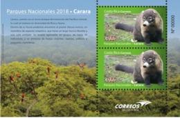 Costa Rica MNH Sheet New 2018 National Parks Pizote Birds Parrot - Parrots