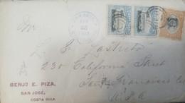 O) 1903 COSTA RICA, VIEW OF PORT LIMON SCT 47 5c - BRAULIO CARILLO -BRANLIO SCOTT 48 10c - BENJ  TO USA - Costa Rica