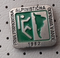 Expedition ANDI 1982 Alpinism, Mountaineering Slovenia Pin - Alpinism, Mountaineering