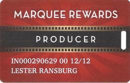 Marquee Rewards Casino Slot Card Multiple Locations In USA - Hollywood & Argosy Logos - Casino Cards