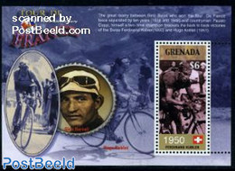 Grenada 2003 Tour De France, Ferdinand Kuebler S/s, (Mint NH), Sport - Sport (other And Mixed) - Cycling - Motorcycles - Radsport