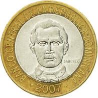 Monnaie, Dominican Republic, 5 Pesos, 2007, TB+, Bi-Metallic, KM:89 - Dominicana