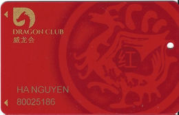 Lucky Dragon Casino - Las Vegas Casino - Slot Card With Punch Hole Near Mag Stripe - Text Moved Down - Casino Cards