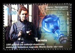 Bosnia And Herzegovina 2017 Mih. 724 Physicist And Chemist, Nobel Prize Laureate Marie Sklodowska Curie MNH ** - Bosnien-Herzegowina