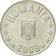 Monnaie, Roumanie, 10 Bani, 2009, Bucharest, TTB+, Nickel Plated Steel, KM:191 - Roumanie