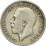 Monnaie, Grande-Bretagne, George V, 6 Pence, 1921, TB+, Argent, KM:815a.1 - 1816-1901 : Frappes XIX° S.