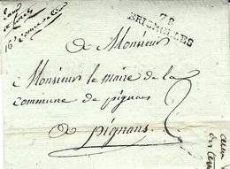 """1808 - Lettre De 78 / BRIGNOLLES  Avec Manuscrite """" Eaux Et Forêts / 16è Conservation """" Pour Pignons - 1801-1848: Precursors XIX"""