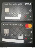2x Credit Cards Poland VISA & Mastercard Mint - Geldkarten (Ablauf Min. 10 Jahre)