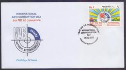 PAKISTAN 2014 FDC - International Anti Corruption Day, NAB, First Day Cover - Pakistan