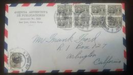 O) 1946 COSTA RICA, MULTIPLE COVER -JOSE JOAQUIN RODRIGUEZ SCT 211A  5c, AGENCIA ADVENTISTA DE PUBLICACIONES-TO USA - Costa Rica