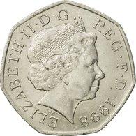 Monnaie, Grande-Bretagne, Elizabeth II, 50 Pence, 1998, TTB+, Copper-nickel - 1971-… : Monnaies Décimales