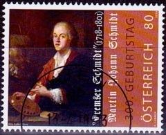 Austria Österreich 2018 300. Geburtstag Von Martin Johann Schmidt. USED / O / GESTEMPELT - 1945-.... 2. Republik