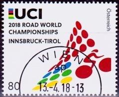 Austria Österreich 2018 Straßenrad-Weltmeisterschaften, Innsbruck. USED / O / GESTEMPELT - 1945-.... 2. Republik