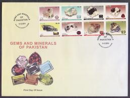 PAKISTAN 2014 FDC - Gems And Minerals Of Pakistan, Stones, Complete Set On Big First Day Cover - Pakistan
