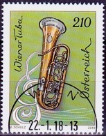 Austria Österreich 2018 Wiener Tuba USED / O / GESTEMPELT - 1945-.... 2. Republik