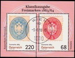 Austria Österreich 2018  Blockausgabe: Klassische Briefmarken (V) USED / O / GESTEMPELT - 1945-.... 2. Republik