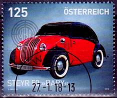 "Austria Österreich 2018 Steyr Typ 50 ""Baby""  USED / O / GESTEMPELT - 1945-.... 2. Republik"
